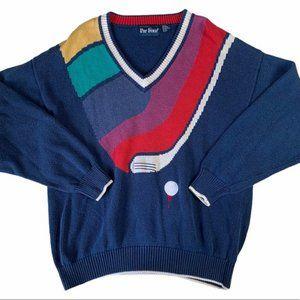 Vintage Rainbow Golf Sweater   PGA
